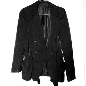 Ark & Co Blazer Satin Like Blazer Black Size Small